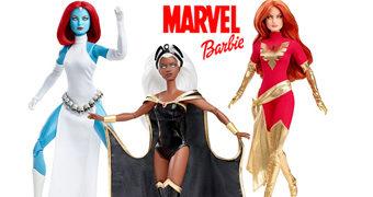 Bonecas Barbie Marvel: Tempestade, Mística e Fênix Negra