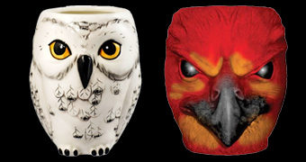 Canecas Harry Potter: Coruja Edwiges e Fênix Fawkes