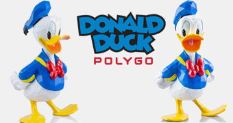 POLYGO Pato Donald em Estilo Poligonal
