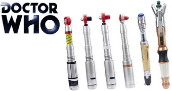 Set com 6 Sonic Screwdrivers da Série Doctor Who!