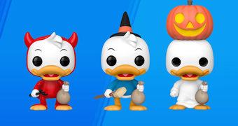 Bonecos Pop! Disney Huguinho, Zezinho e Luisinho Fantasiados para o Halloween!