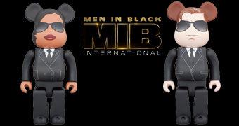 Men in Black International Be@rbricks: Agente M (Tessa Thompson) e Agente H (Chris Hemsworth)