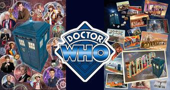 Dois Quebra-Cabeças Doctor Who: 13 Doctors e Cartões Postais