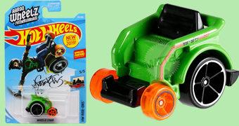 "Cadeira-de-Rodas Wheelie Chair Hot Wheels de Aaron ""Wheelz"" Fotheringham em Escala 1:64"