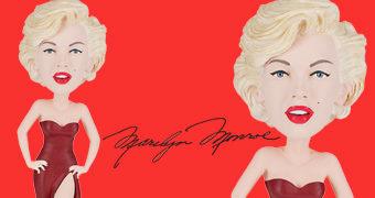 Boneca Marilyn Monroe Bobble Head com Vestido Vermelho