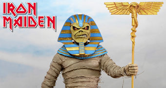 Faraó Eddie (Iron Maiden Powerslave e World Slavery Tour) – Action Figure Retro Neca Clothed