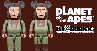 Bonecos Be@rbricks O Planeta dos Macacos: Cornelius e Zira
