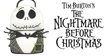 Mini-Mochila Jack Skellington The Nightmare Before Christmas Loungefly (O Estranho Mundo de Jack)