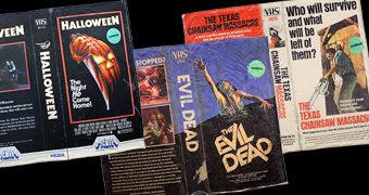 Cobertores Capas de VHS: Evil Dead, Massacre da Serra Elétrica e Halloween
