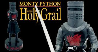 Estátua Falante Cavaleiro Negro (Black Knight) Premium Motion Monty Python – Em Busca do Cálice Sagrado (2º Edição)