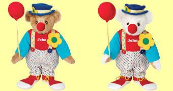 Clown Bear, o Ursinho de Pelúcia Palhaço!