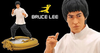 Estátua Bruce Lee (80 Anos) Premier Collection com 28 cm de Altura