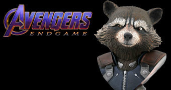 Busto Rocket Racoon Legends in 3D em Escala 1:2 (Vingadores: Ultimato)