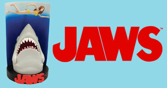 Estátua Premium Motion Pôster 3D do Filme Tubarão (Jaws) de Steven Spielberg