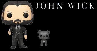 Bonecos Pop! John Wick e Cão