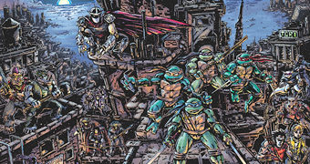 Quebra-Cabeça Universo Tartarugas Ninjas Desenhado por Kevin Eastman com 1.000 Peças
