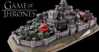 Quebra-Cabeça 3D Castelo de Winterfell Game of Thrones com 430 Peças (4D Cityscape)