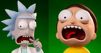 Figuras de Luxo Rick & Morty Mondo Exclusive com 29 e 20 cm de Altura