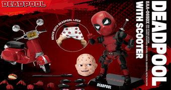Action Figure Deadpool Egg Attack Action com Lambreta e Cueca