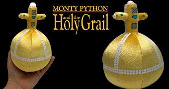 Versão de Pelúcia da Santa Granada de Mão da Antióquia com 14 Frases do Filme Monty Python – Em Busca do Cálice Sagrado
