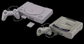 Kits de Montar PlayStation e Sega Saturn em Escala 2:5 (Bandai Best Hit Chronicle)