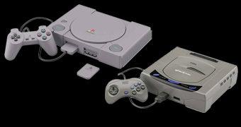 Kits de Montar PlayStation e Sega Saturn em Escala 2:5 (Bandai Best Hit Chronicle)
