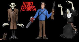 Toony Terrors: Nosferatu, Ash Williams e A Freira no Estilo Desenho Animado