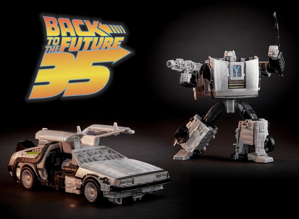 De Volta para o Futuro e Transformers unidos em um action-figure