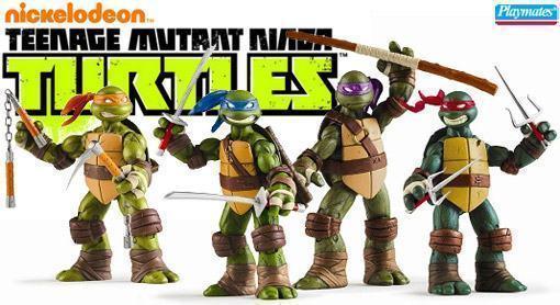 Tartarugas Ninjas 2012 Action Figures Do Novo Desenho Da