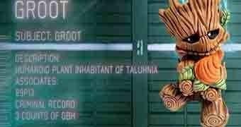"Figura Toy Art Baby Timber ""Groot"" (Os Guardiões da Galáxia)"