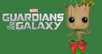 Boneco Pop! Guardiões da Galáxia: Bebê Groot Dançante em Vaso Verde!