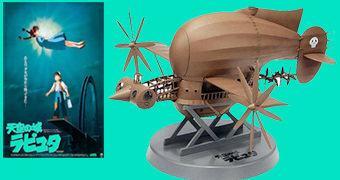 Navio Voador Pirata Tiger Moth do Filme O Castelo no Céu de Hayao Miyazaki