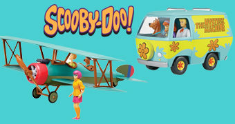 Kits de Montar Snap-Fit Scooby-Doo: Mystery Machine e Biplano