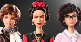 Barbie The Inspiring Women: Amelia Earhart, Katherine Johnson e Frida Kahlo