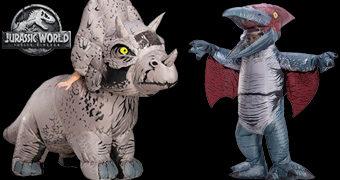 Fantasias Infláveis Jurassic World: Triceratops e Pteranodonte