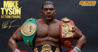 Action Figure Mike Tyson 1:12 com Cinturões de Campeão (EBC, WBA e IBF)