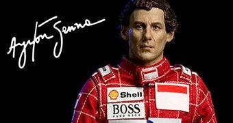 Figura Ayrton Senna Grande Prêmio de São Paulo 1993 (Iron Studios)