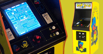 Réplica 1:4 do Pac-Man Arcade Original de 1980