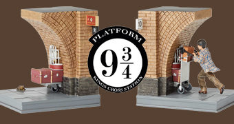 Apoios de Livros Plataforma 9 ¾ Harry Potter Bookends