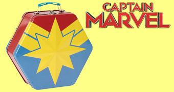 Lancheira Hexagonal da Capitã Marvel
