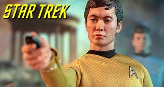 Hikaru Sulu (George Takei) QMx Master Series – Action Figure Perfeita 1:6 Star Trek TOS