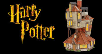 The Burrows (A Toca) Harry Potter Village – Miniatura Enesco da Casa dos Weasleys