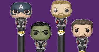 Canetas Pop! Pen Vingadores: Ultimato com Iron Man, Capitão América, Hulk e Thor!