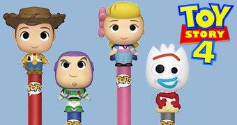 Canetas Pop! Pen Toy Story 4: Woody, Buzz, Betty e Garfinho