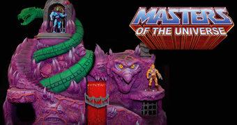 Playset Snake Mountain (Montanha da Serpente) He-Man e os Mestres do Universo com 91cm de altura por 1,22 metro de largura