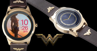 Relógio de Pulso Wonder Woman Smartwatch (iOS e Android)