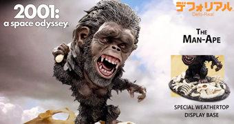 Man-Ape (Homem-Macaco) Defo-Real – Figura Deformada/Realista 2001: Uma Odisseia no Espaço (Stanley Kubrick)