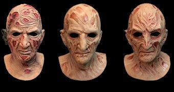 6 Máscaras e 4 Luvas de Freddy Krueger em A Hora do Pesadelo