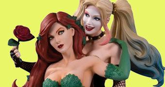 Harley Quinn & Poison Ivy por Emanuela Lupacchino – Estátua DC Designer Series