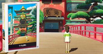 Quebra-Cabeça Aburaya (Casa de Banhos) A Viagem de Chihiro de Hayao Miyazaki